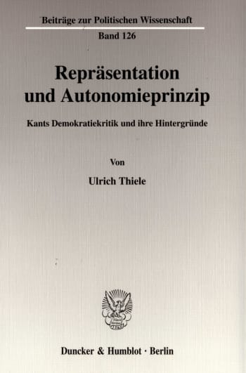 Cover: Repräsentation und Autonomieprinzip