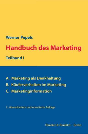 Cover: Handbuch des Marketing, Teilband I