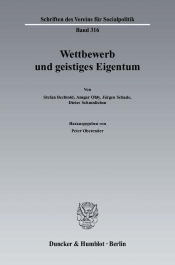 Cover: Wettbewerb und geistiges Eigentum