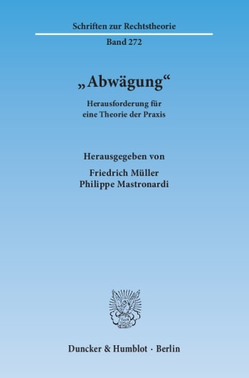 Cover: »Abwägung«