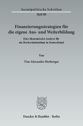 Cover: Finanzierungsstrategien für die eigene Aus- und Weiterbildung