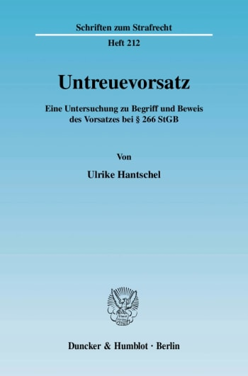 Cover: Untreuevorsatz