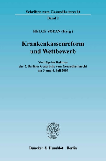Cover: Krankenkassenreform und Wettbewerb