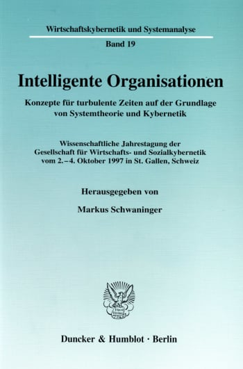 Cover: Intelligente Organisationen