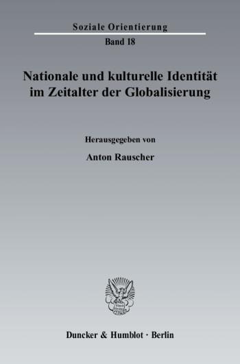 Cover: Nationale und kulturelle Identität im Zeitalter der Globalisierung