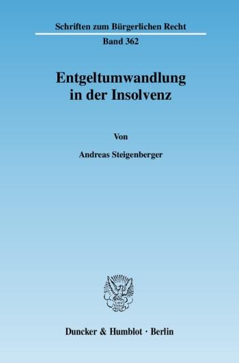 Cover: Entgeltumwandlung in der Insolvenz