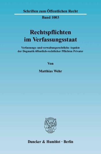 Cover: Rechtspflichten im Verfassungsstaat