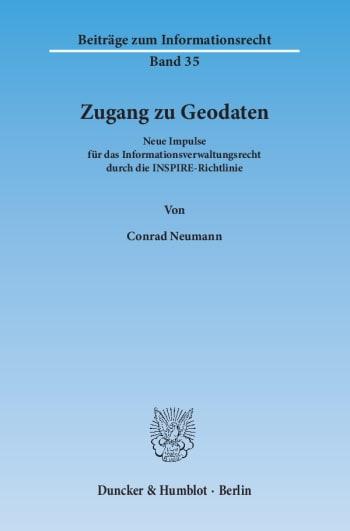 Cover: Zugang zu Geodaten