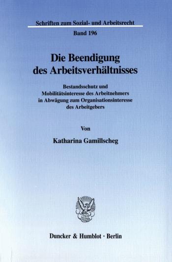 Cover: Die Beendigung des Arbeitsverhältnisses