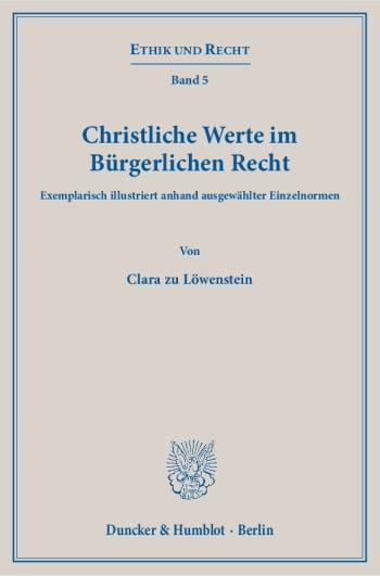 Cover: Christliche Werte im Bürgerlichen Recht