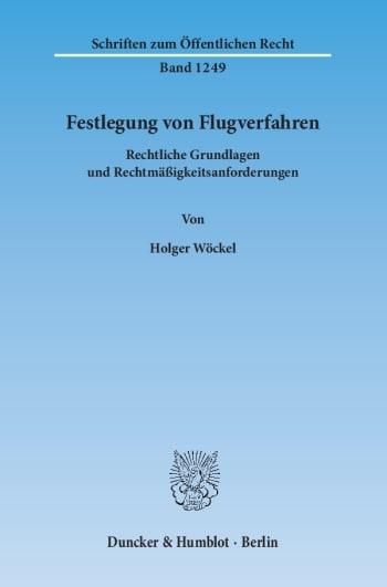 Cover: Festlegung von Flugverfahren