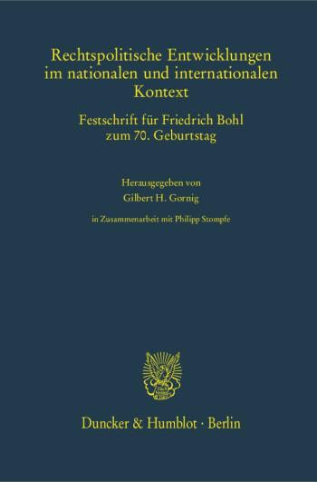 Cover: Rechtspolitische Entwicklungen im nationalen und internationalen Kontext