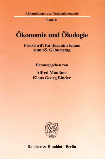 Cover: Ökonomie und Ökologie
