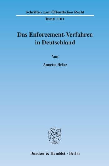 Cover: Das Enforcement-Verfahren in Deutschland