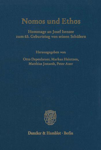 Cover: Nomos und Ethos