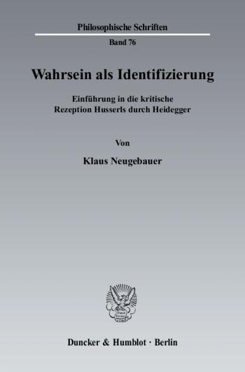 Cover: Wahrsein als Identifizierung