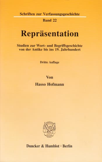 Cover: Repräsentation