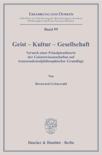 Cover: Geist – Kultur – Gesellschaft