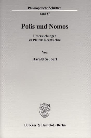 Cover: Polis und Nomos