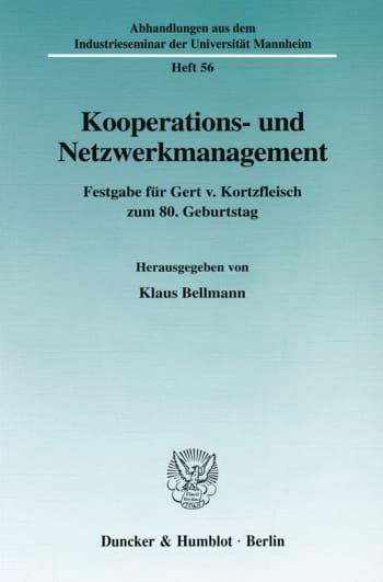 Cover: Kooperations- und Netzwerkmanagement