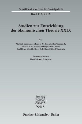 Cover: Die Entwicklung der Raumwirtschaftslehre von ihren Anfängen bis in die Gegenwart