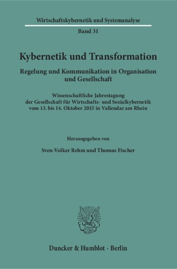 Cover: Kybernetik und Transformation