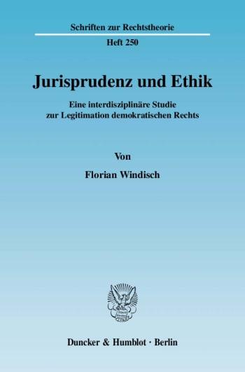 Cover: Jurisprudenz und Ethik