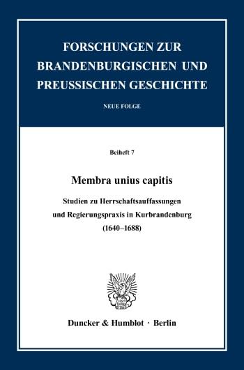 Cover: Membra unius capitis