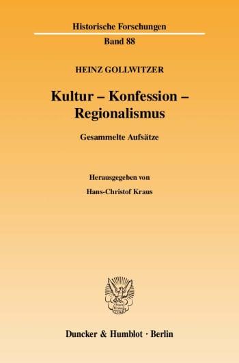 Cover: Kultur - Konfession - Regionalismus