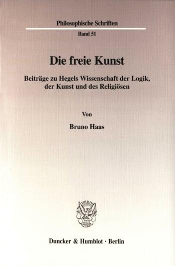 Cover: Die freie Kunst