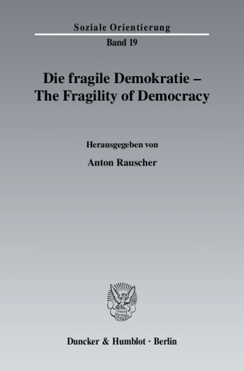 Cover: Die fragile Demokratie / The Fragility of Democracy