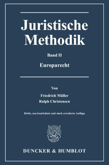 Cover: Juristische Methodik