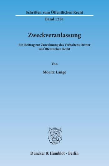 Cover: Zweckveranlassung