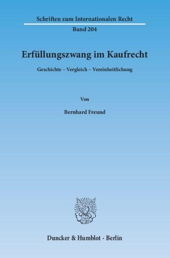 Cover: Erfüllungszwang im Kaufrecht