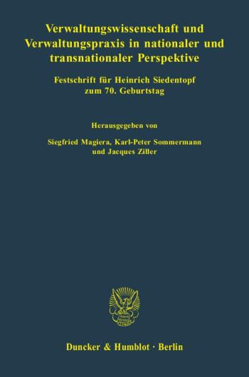Cover: Verwaltungswissenschaft und Verwaltungspraxis in nationaler und transnationaler Perspektive