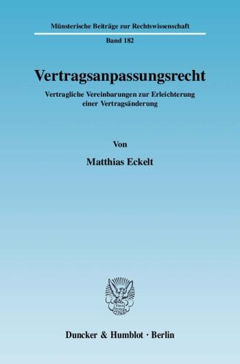 Cover: Vertragsanpassungsrecht