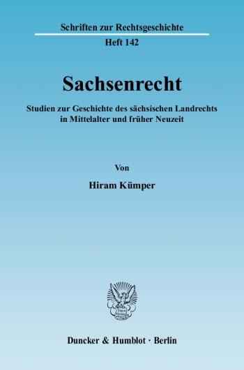 Cover: Sachsenrecht
