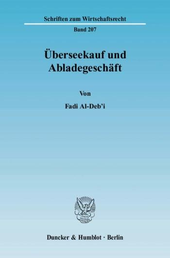 Cover: Überseekauf und Abladegeschäft