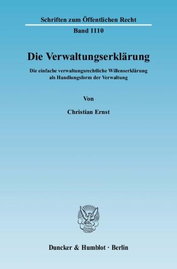 Cover: Die Verwaltungserklärung