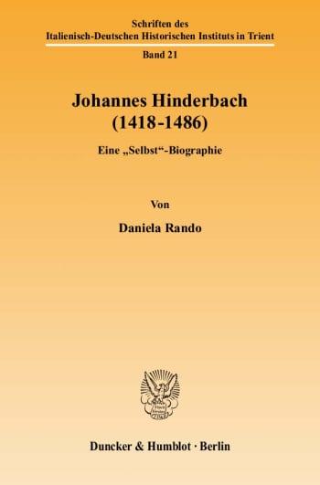 Cover: Johannes Hinderbach (1418–1486)