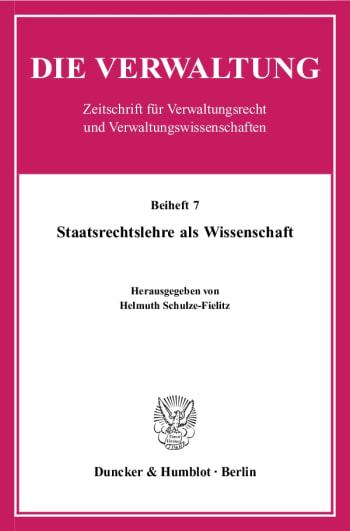 Cover: Staatsrechtslehre als Wissenschaft