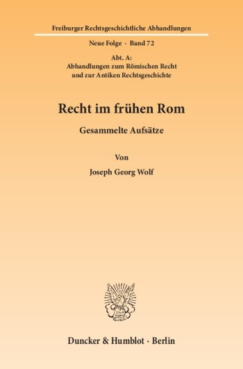 Cover: Recht im frühen Rom