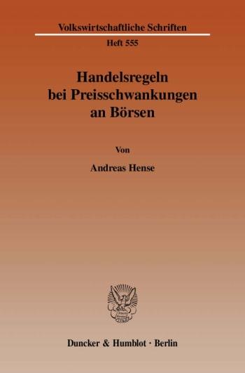 Cover: Handelsregeln bei Preisschwankungen an Börsen