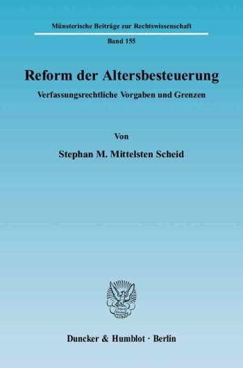 Cover: Reform der Altersbesteuerung