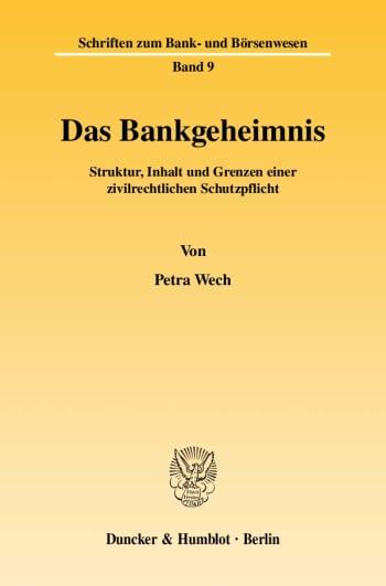 Cover: Das Bankgeheimnis