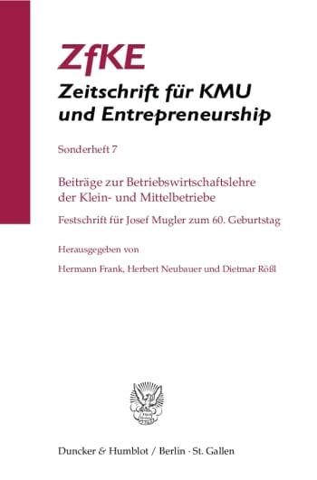 Cover: Beiträge zur Betriebswirtschaftslehre der Klein- und Mittelbetriebe