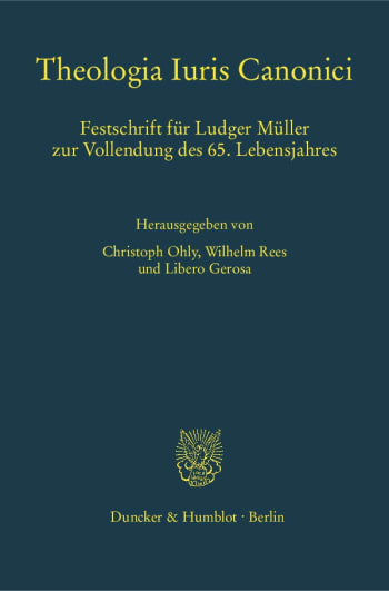 Cover: Theologia Iuris Canonici