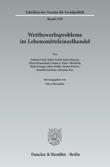 Cover: Wettbewerbsprobleme im Lebensmitteleinzelhandel