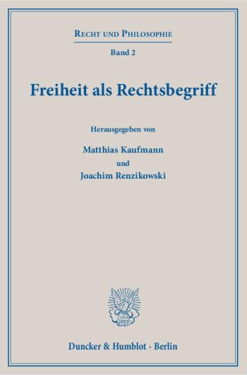 Cover: Freiheit als Rechtsbegriff
