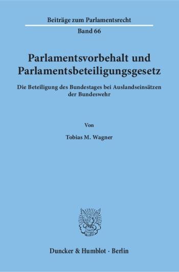 Cover: Parlamentsvorbehalt und Parlamentsbeteiligungsgesetz